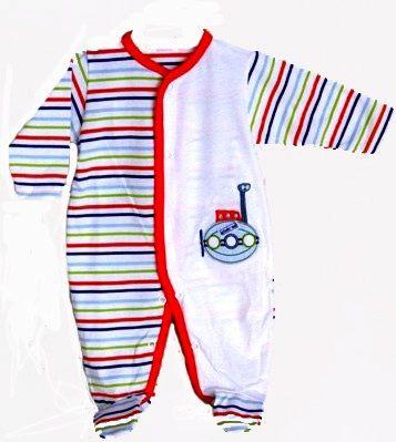 08066d0d6 Pelele largo de verano para bebé en algodón de rayas con cierre de clic -  Pijamas y Peleles - Mundo Kiriko  modainfantil  pijamas bebé  canastilla