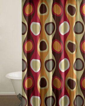 Amazon Com City Scene Shower Curtain Retro Radar Red Home