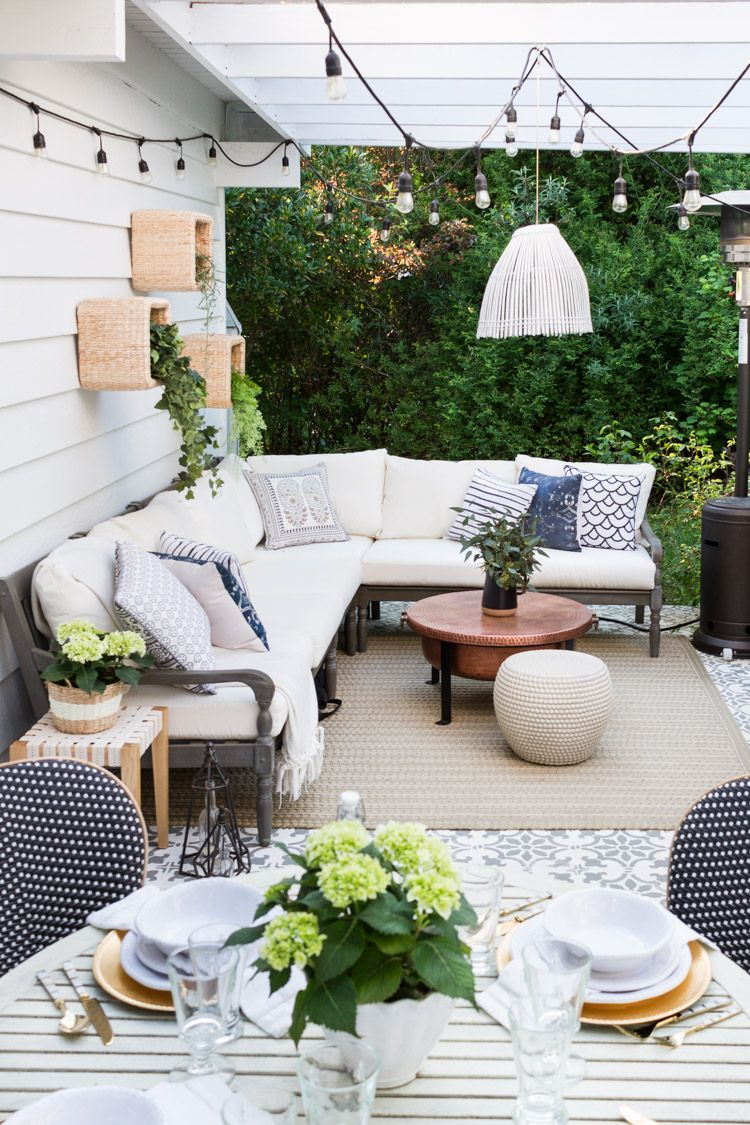 30 Inspiring Outdoor Rooms for Summer | The Happy Housie