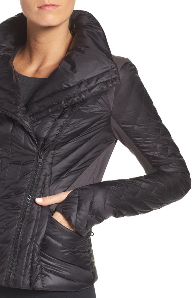 Blanc Noir Motion Panel Down Puffer Jacket Nordstrom Jackets Puffer Jackets Nordstrom [ 1164 x 760 Pixel ]