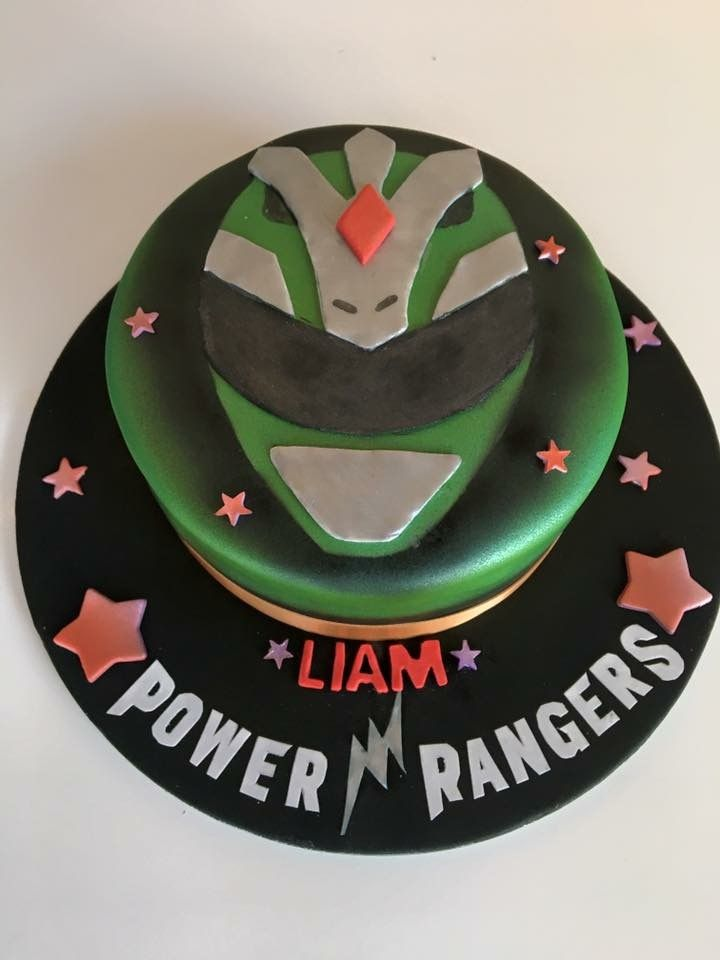 Green power ranger cake From Sweet Sensations a bespoke cake