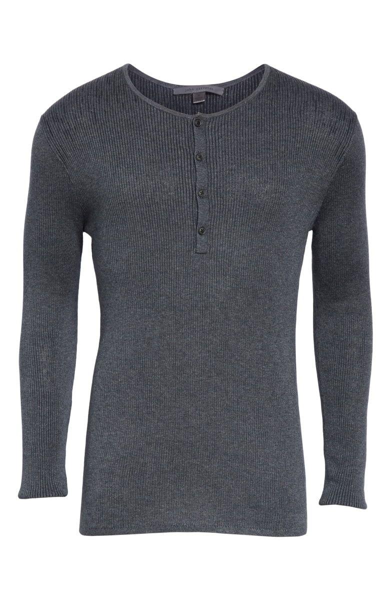 7de40fb31c4c John Varvatos Ribbed Henley T-Shirt | Nordstrom | Threads and Creps ...