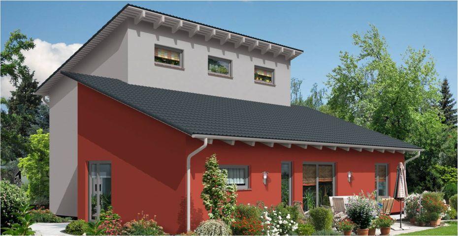 Individuelles Haus mit Pultdach Pultdach