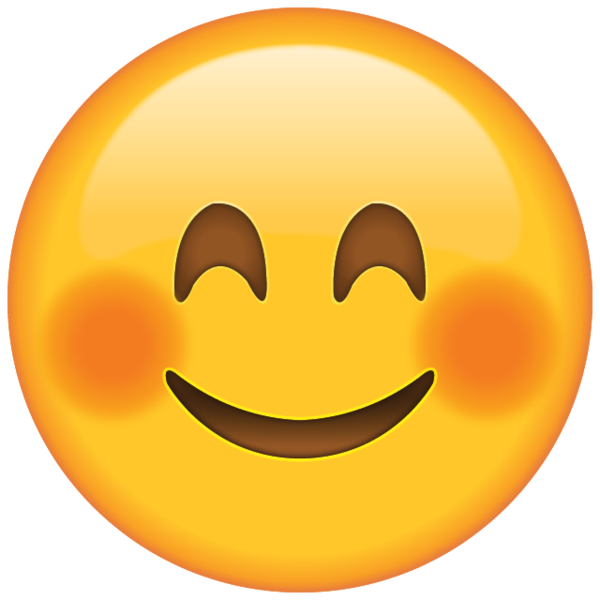 Smiling Face Emoji With Blushed Cheeks Emoji Tekening Grappige Gezichten Emoji