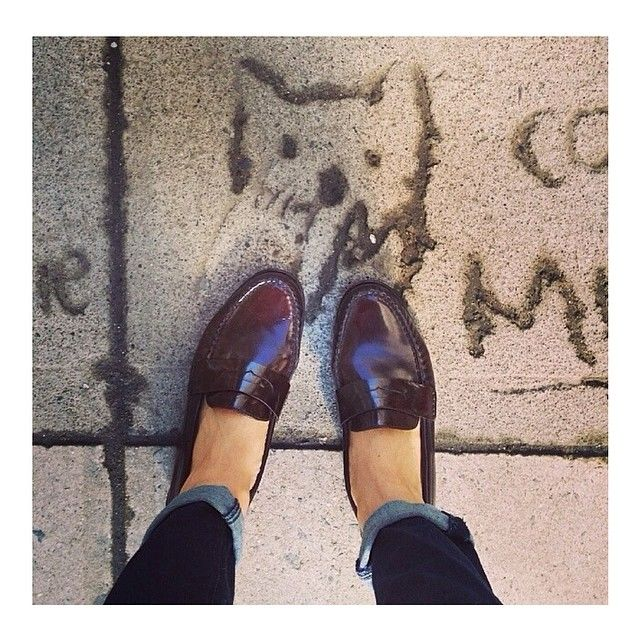 Cole Haan | Eva and her Monroe Penny Loafers, a match made in