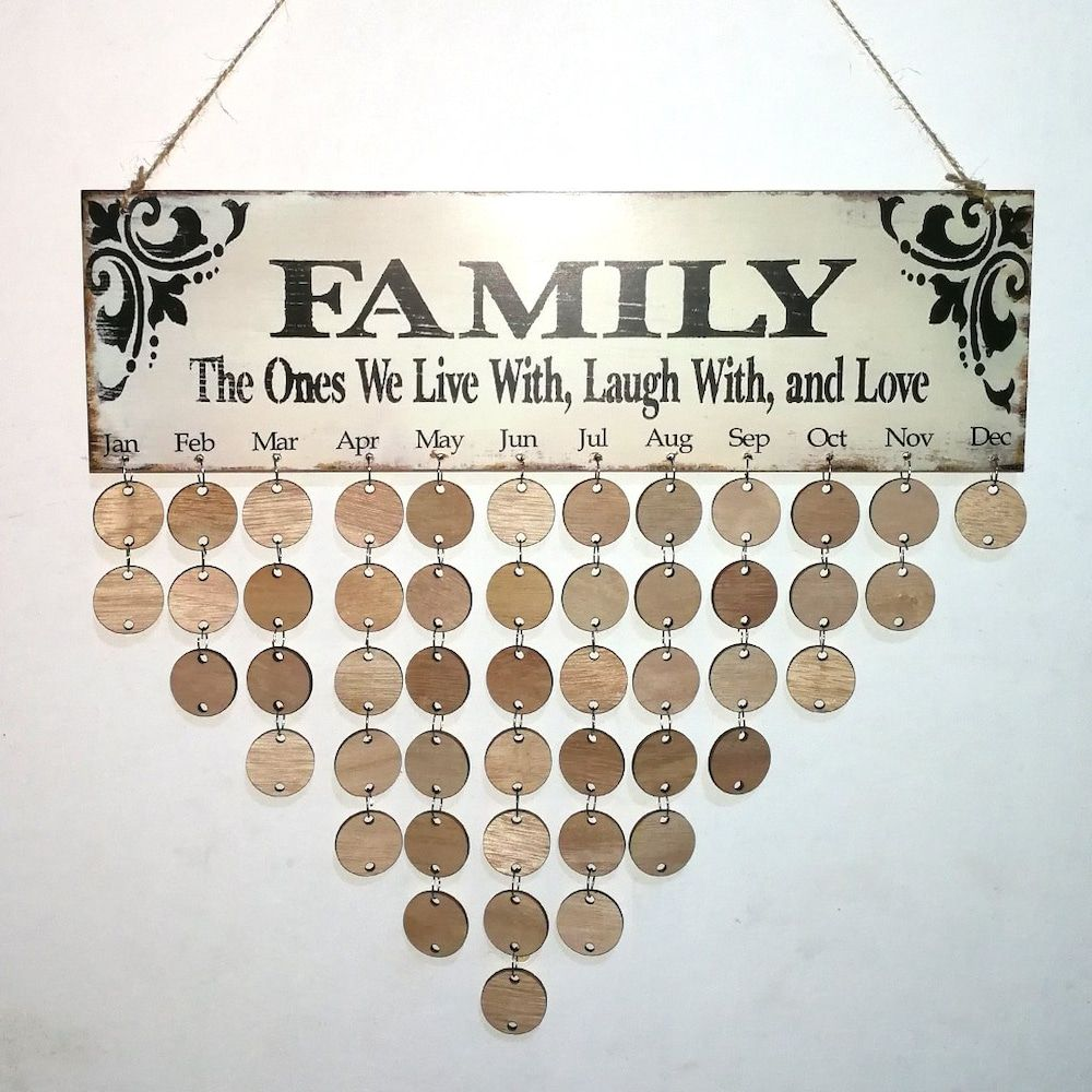 wooden family diy birthday calendar reminder board craft projects