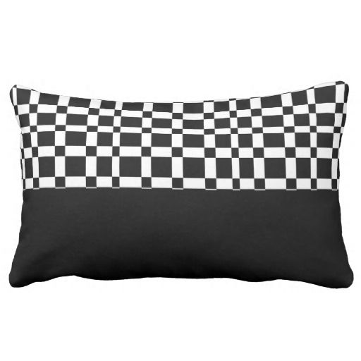 bold pattern black and white throw pillow