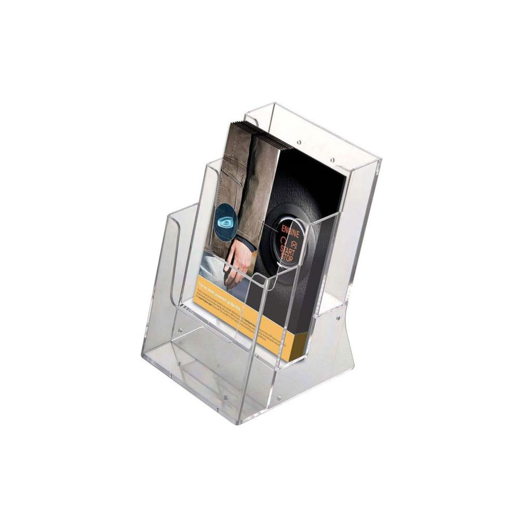 Brochure Leaflet Holder 3 Pockets Countertop Use 5 5w X 8 5h