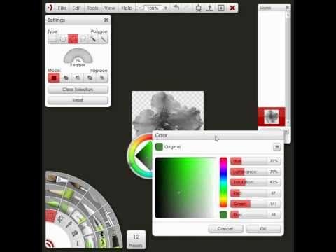 Artrage Studio Colorizing Using The Adjust Color Panel