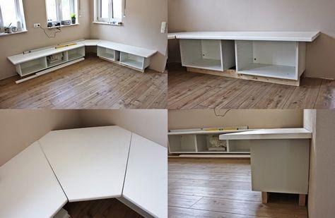 Wir bauen ein Haus Ikea Hack Tutorial - Essecke Ikea hack, Haus