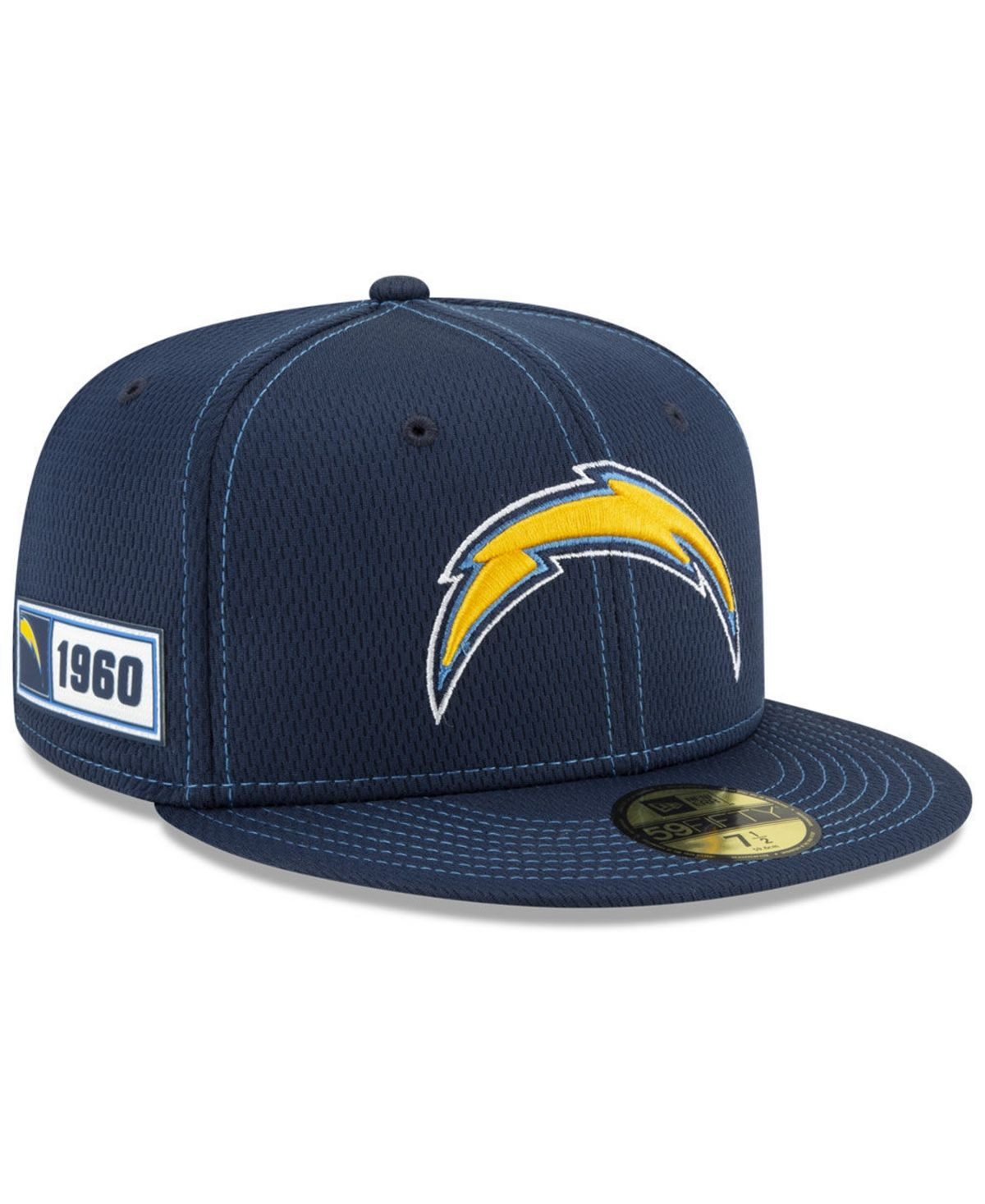 get cheap lowest price buy good New Era Los Angeles Chargers On-Field Sideline Road 59FIFTY-fitted ...