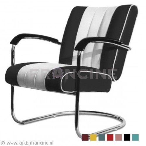 Bel Air fauteuil Swing LC-01, in 7 kleuren - Fifties fauteuil - Fauteuils