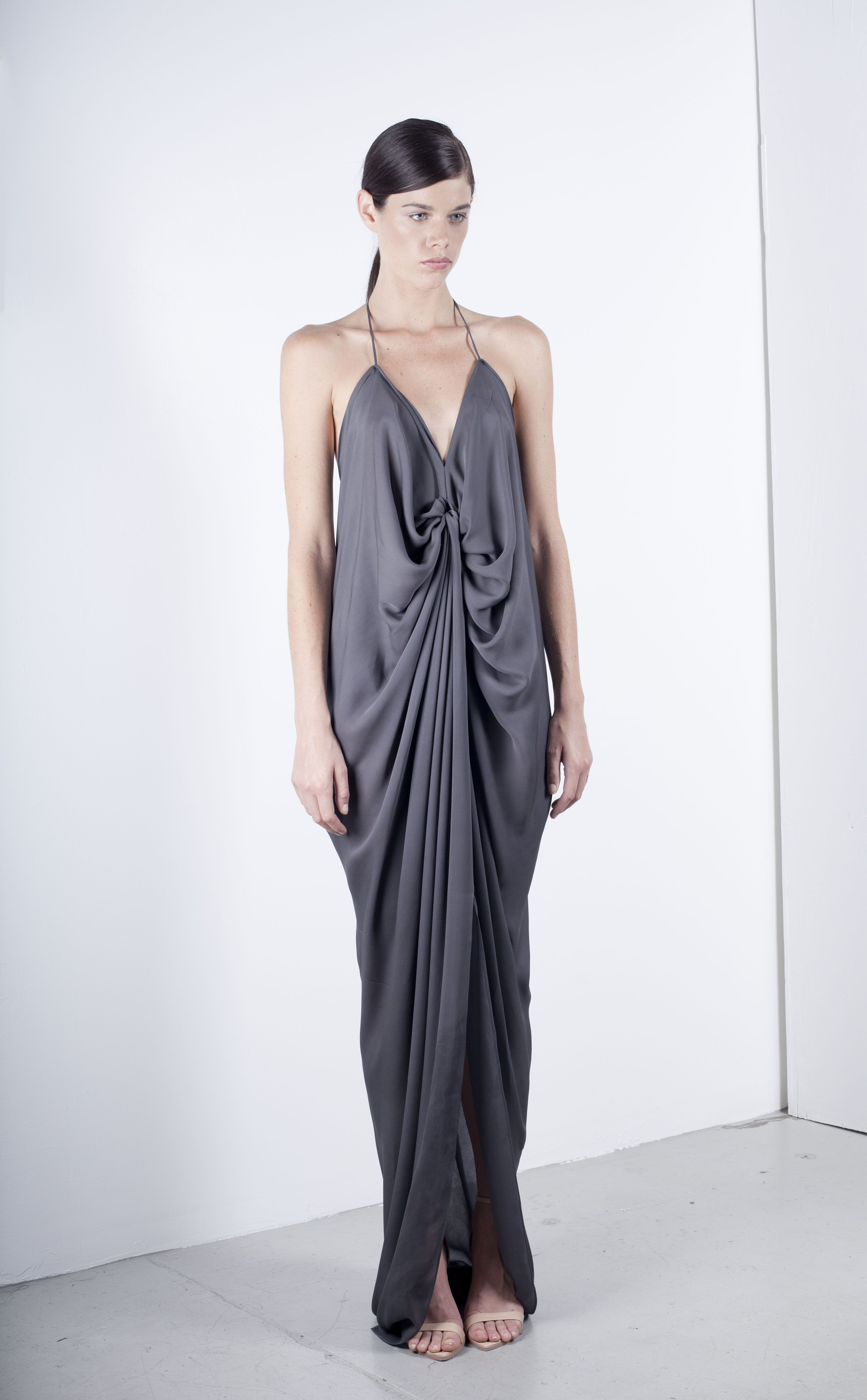 Elegant evening gown. Single knot valr dress- by Valdis NYC | Let ...