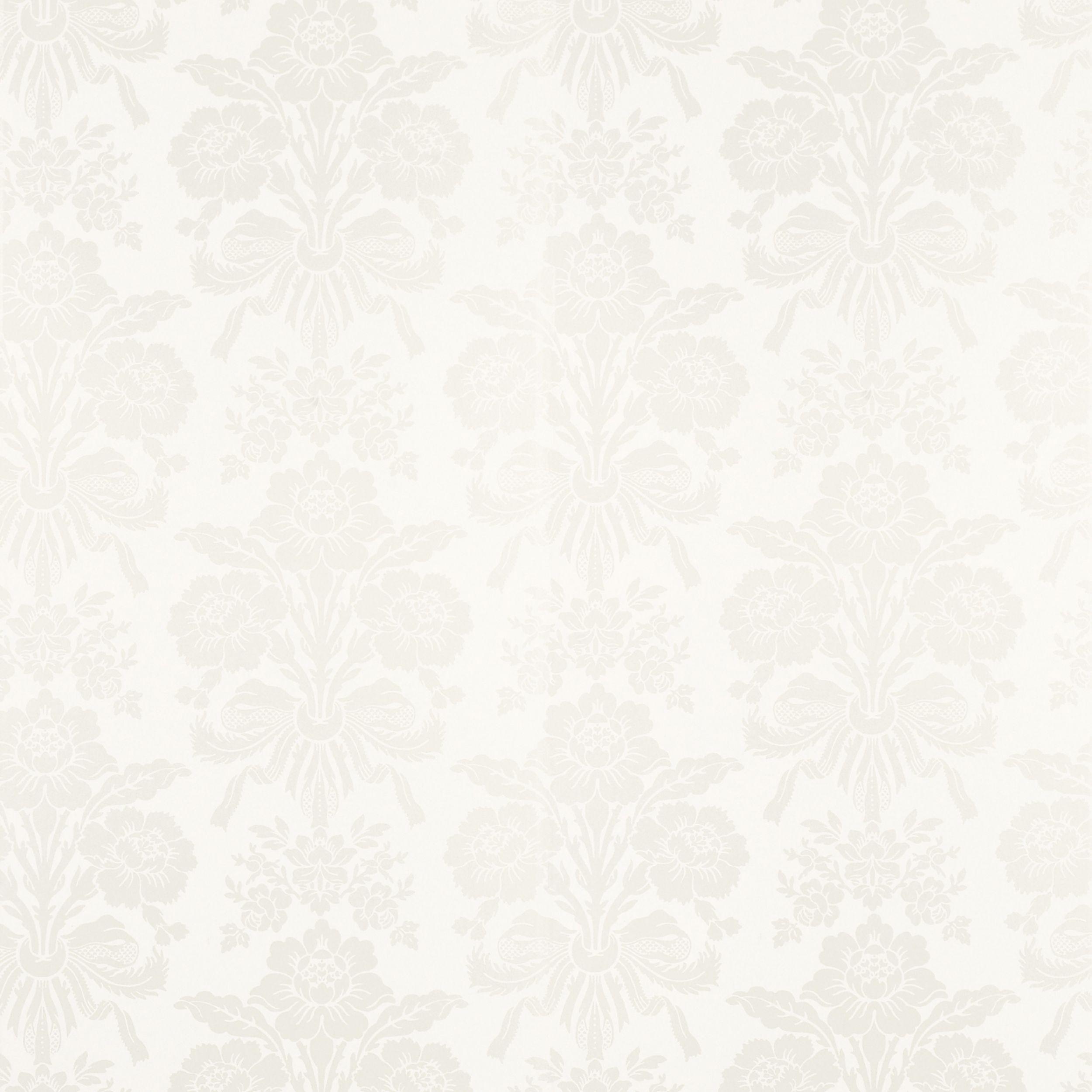 tatton white damask wallpaper laura ashley pookie 39 s. Black Bedroom Furniture Sets. Home Design Ideas
