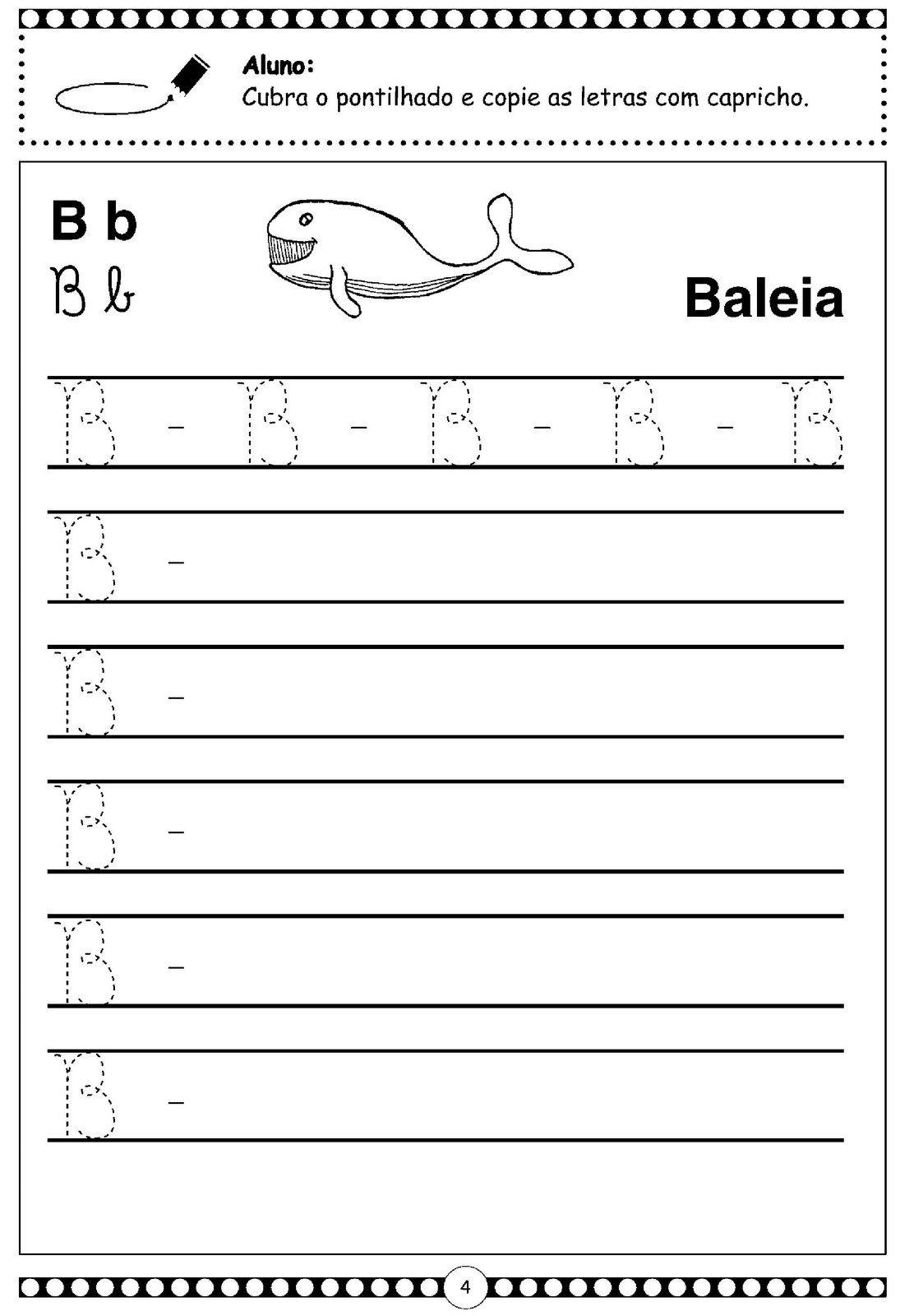 Letra Cursiva B Maiuscula Atividades Letra E Alfabeto