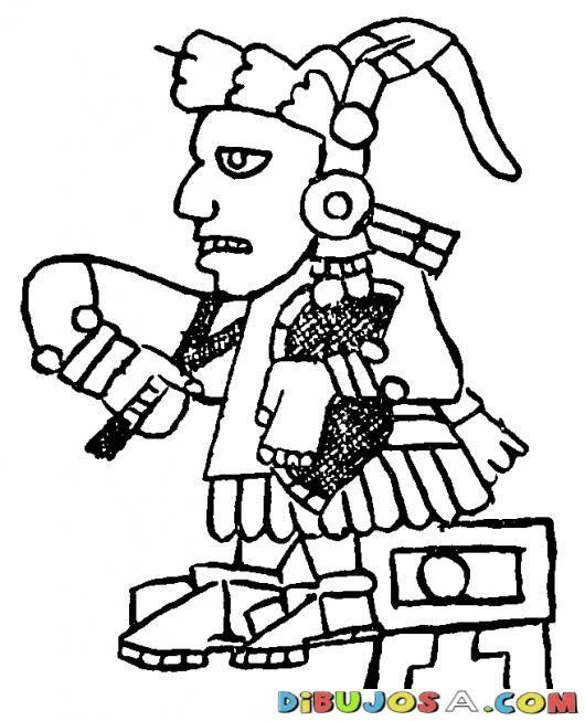 Dibujo Azteca Maya Para Colorear | COLOREAR MAYAS | Dibujo Azteca ...