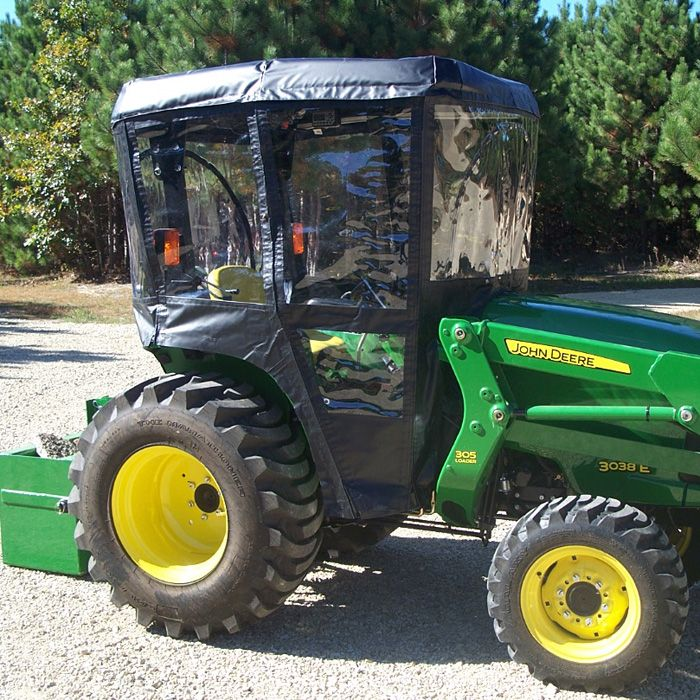 Tractor Cab for John Deere 3000 Series Tractors (Requires Canopy - Optional Canopy Kit Available : john deere canopy for lawn tractor - memphite.com