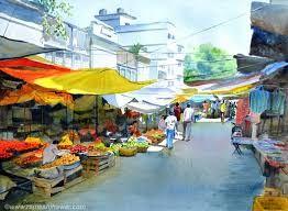 Resultado de imagem para market scenes paintings