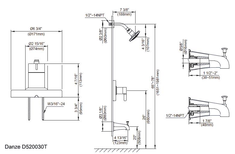 pot sink faucet height
