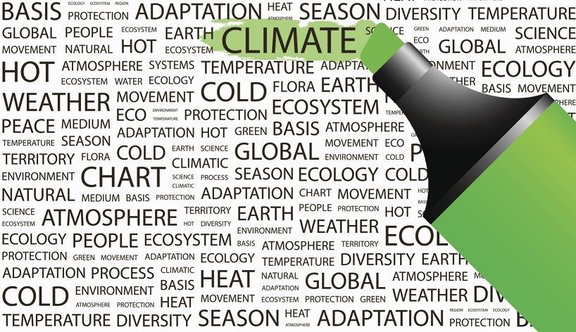 Climate change is one of the prime items on the Obama