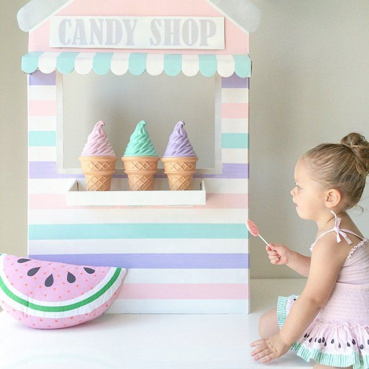 Mommo Design Cardboard Crafts Cardboard Ice Cream Stand Kids Furniture And Details