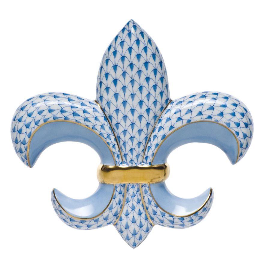 Herend Fleur De Lis Paperweight Assorted Colors Herend Porcelain