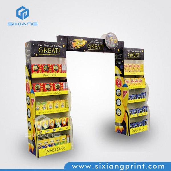 Cardboard Pallet Carton Displays POP Up Display Stand