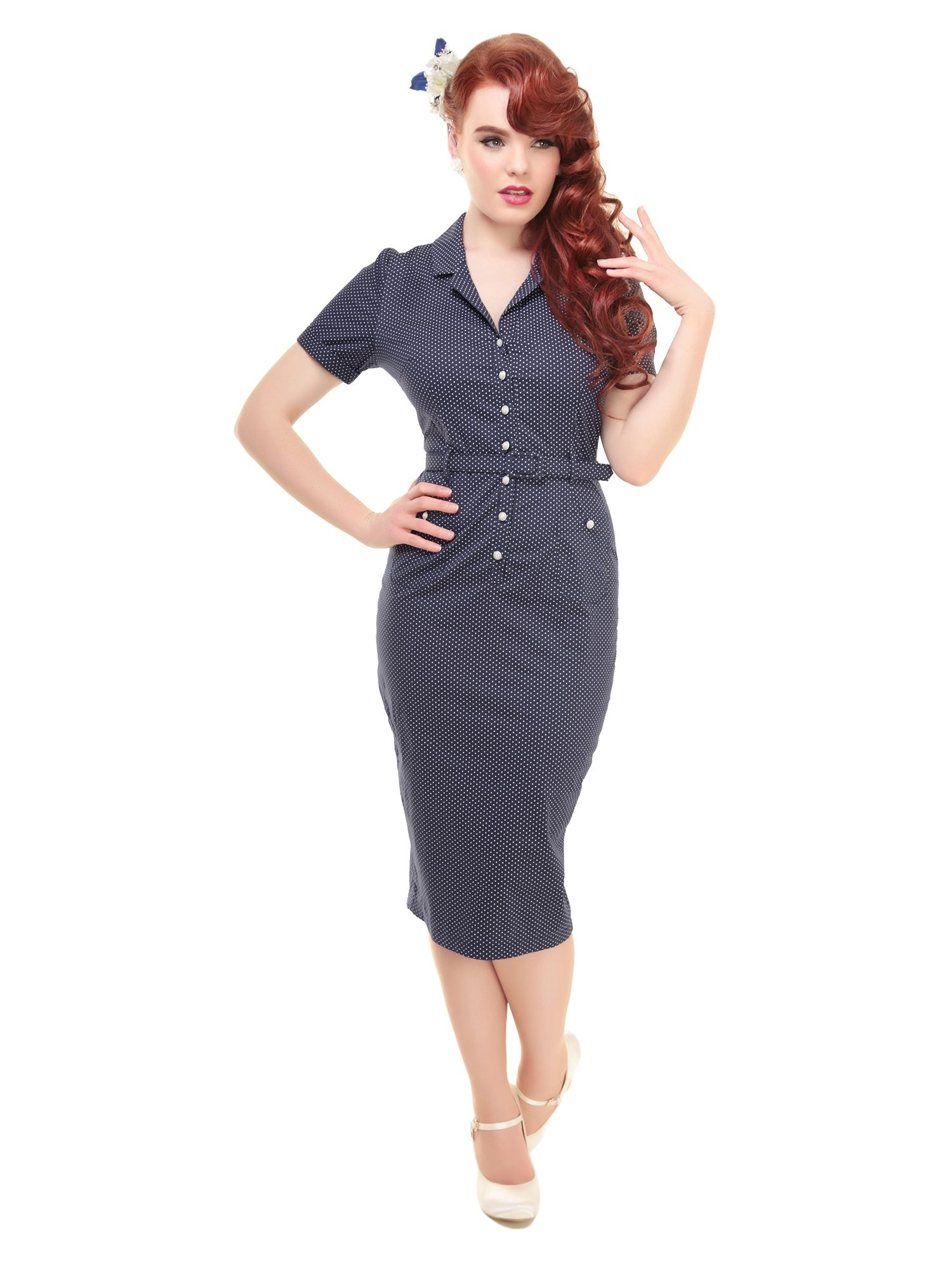 Caterina Mini Polka Dot Pencil Dress 0 | Work Clothes | Pinterest