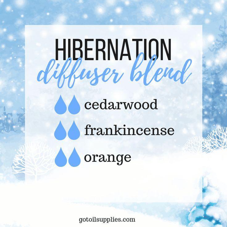 Hibernation Diffuser Blend With Cedarwood, Frankincense and Orange Essential Oils #winterdiffuserblends