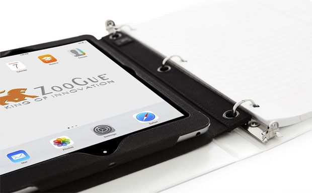 iPad Air Neighbors With a Notepad in Zoogue 3 Ring Binder Insert