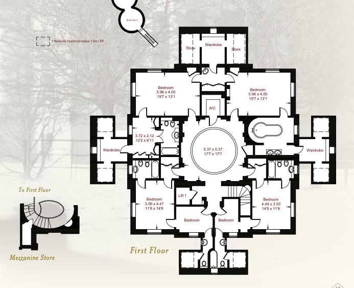 Henbury Hall Upper Floor Plan Bedroom Level Vintage House Plans Floor Plans Hall Flooring