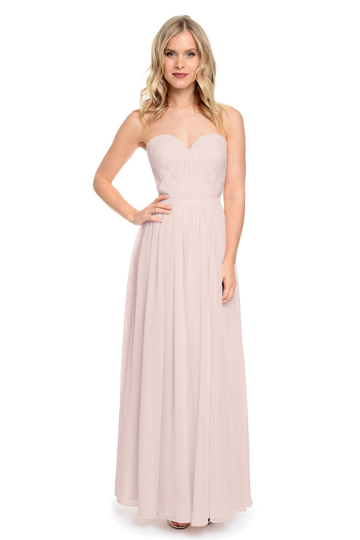 7ffcd978b54 Shop Dove   Dahlia Bridesmaid Dress - Hailey in Poly Chiffon at Weddington  Way. (Blush Champagne