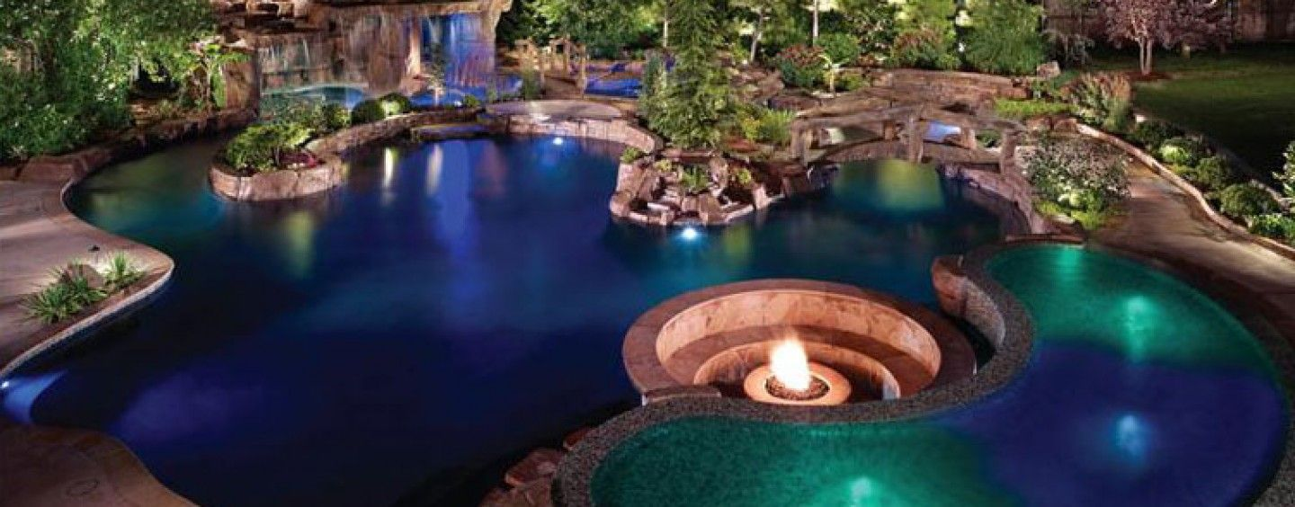 Tropical paradise edmond oklahoma city inground pool for Pool design okc
