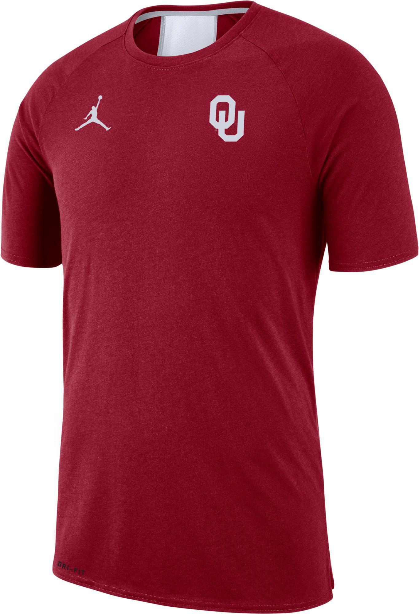 1c22699d860574 Jordan Men s Oklahoma Sooners Crimson Alpha Dri-FIT T-Shirt