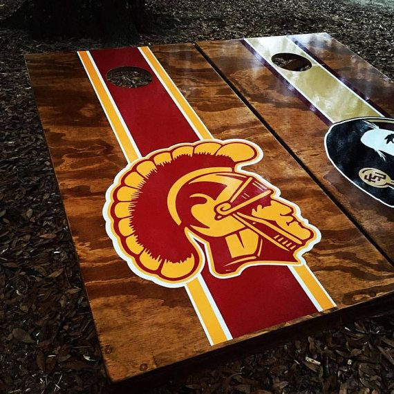 Magnificent Usc Trojans Cornhole Set With Bags By Albrittonboards On Gamerscity Chair Design For Home Gamerscityorg