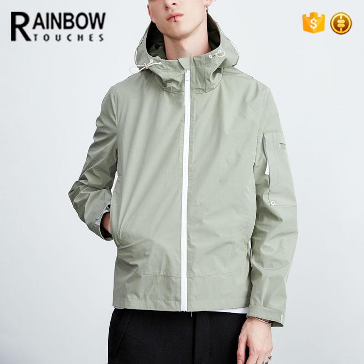 Wholesale Hot Sale Green Blank Windbreak Jacket With