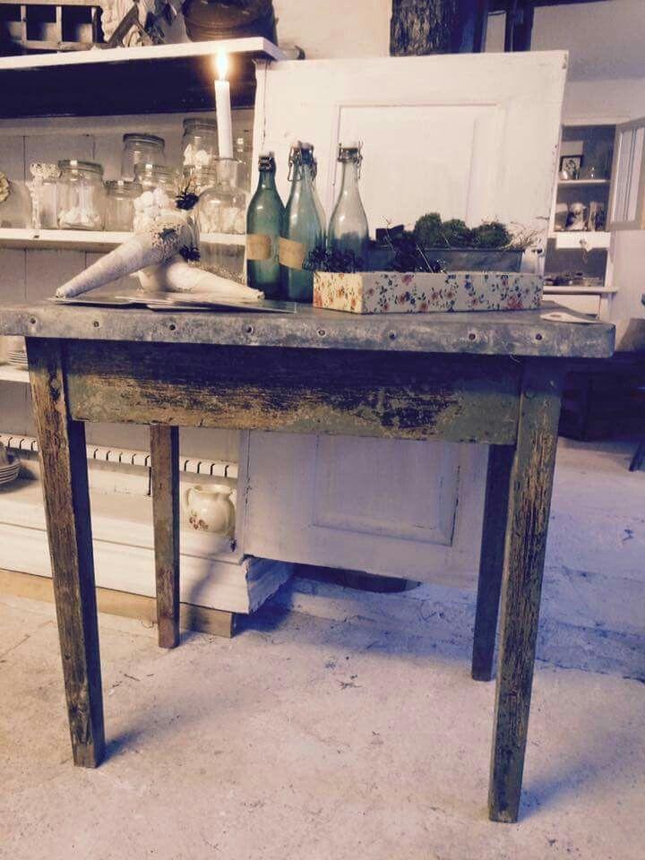 Bord. Table. Fransk landstil og vintage. Hvidt & Slidt, Studiestræde 3, 4300 Holbæk