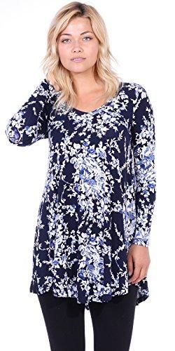 c0f870097058bc Tunic tops for women to wear with leggings in plus size and regular sizes - Long  Tunic Top Can Also be Worn As A Short Dress - Casual Super Comfortable ...