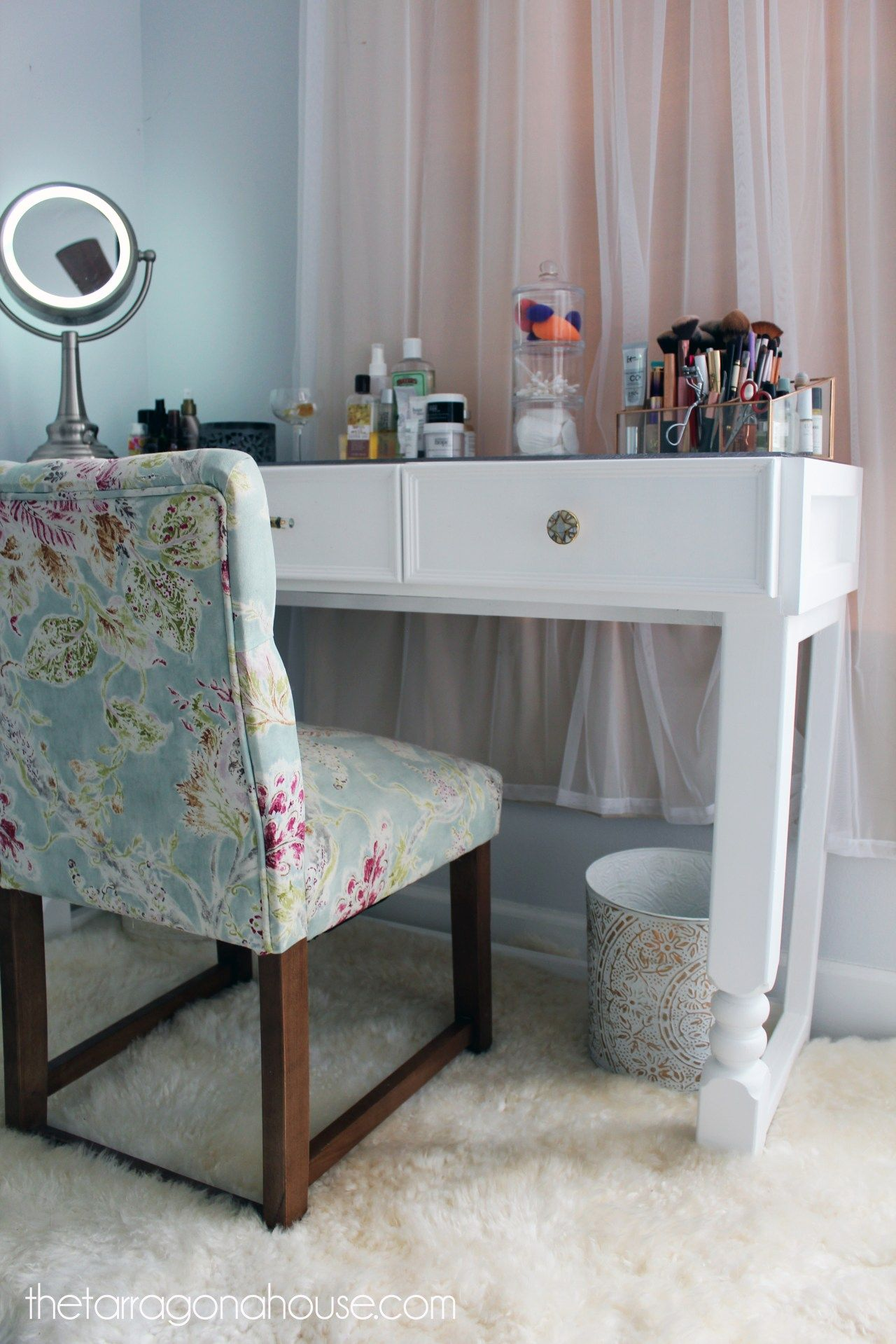 DIY Glass Top Makeup Vanity (The Best Thing I've Ever