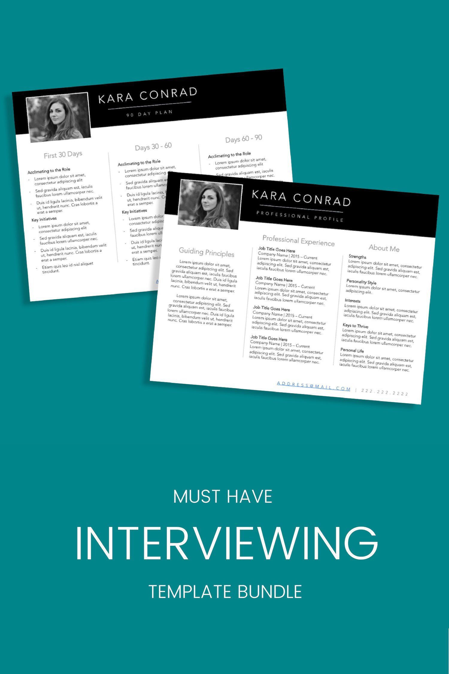 professional resume powerpoint template