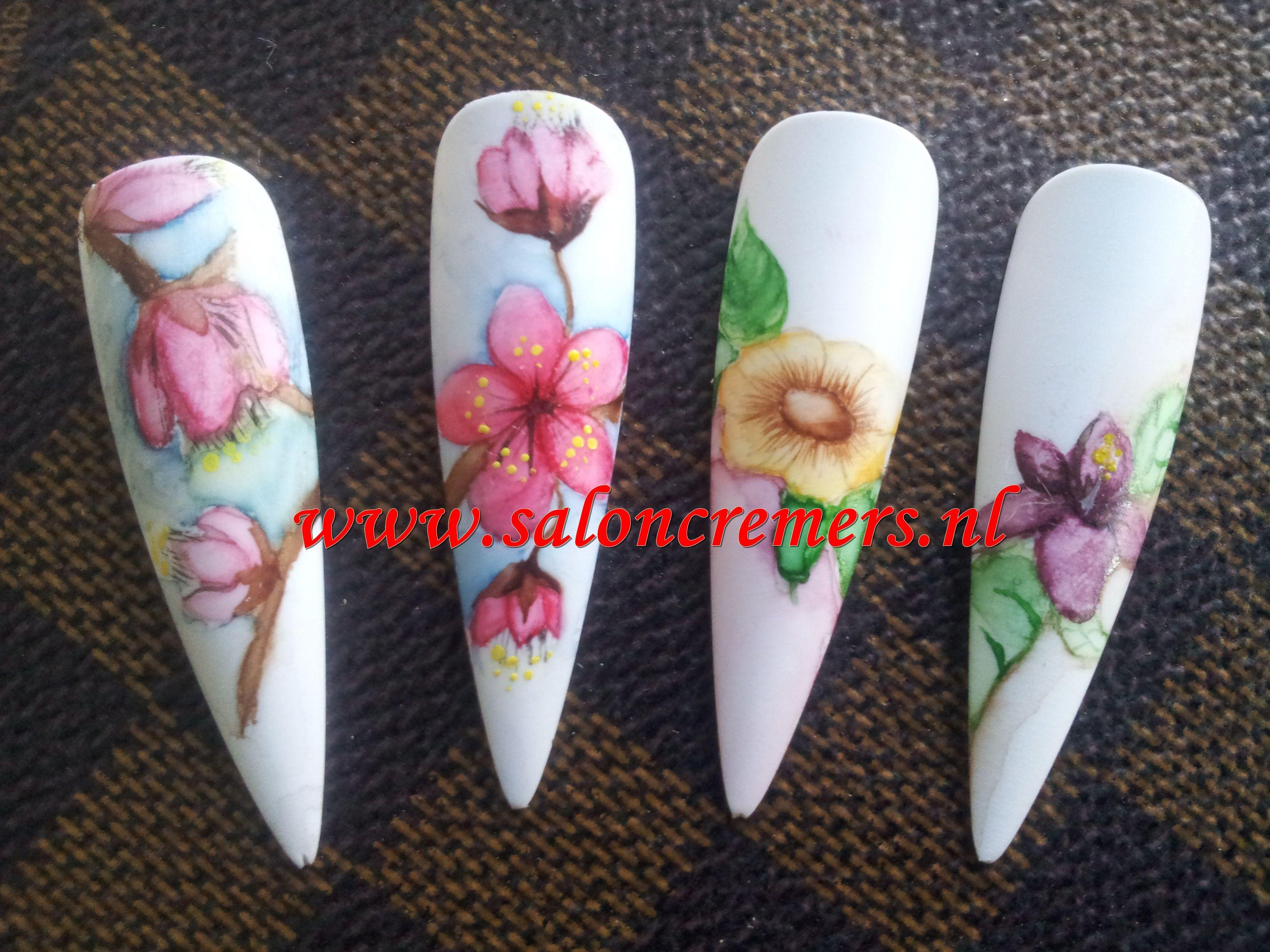 Aquarelle Nail Art Unha Unhas