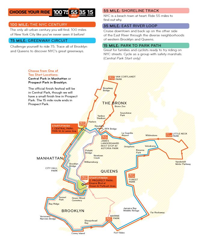 Five Routes 15 miles to 100 miles long  Sept 8th Traffic