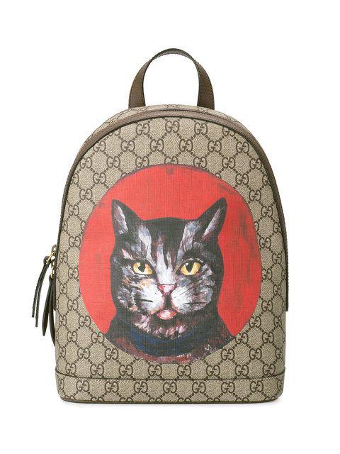 Gucci GG Supreme Mystic Cat backpack  002832753a879