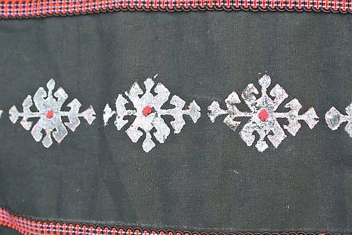 Veľká taška s nomádskym motívom /biela-čierna/
