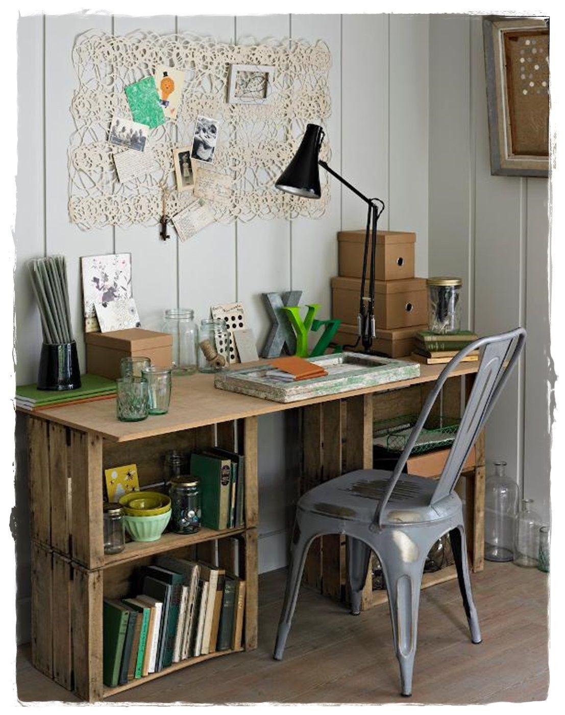 Comprar Cajas De Madera Decoracion Online Muebles Escritorios Con  # Muebles De Jabas De Madera