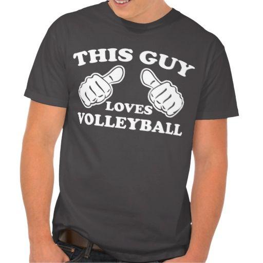 This Guy Loves Volleyball Tshirt #sport #tshirt