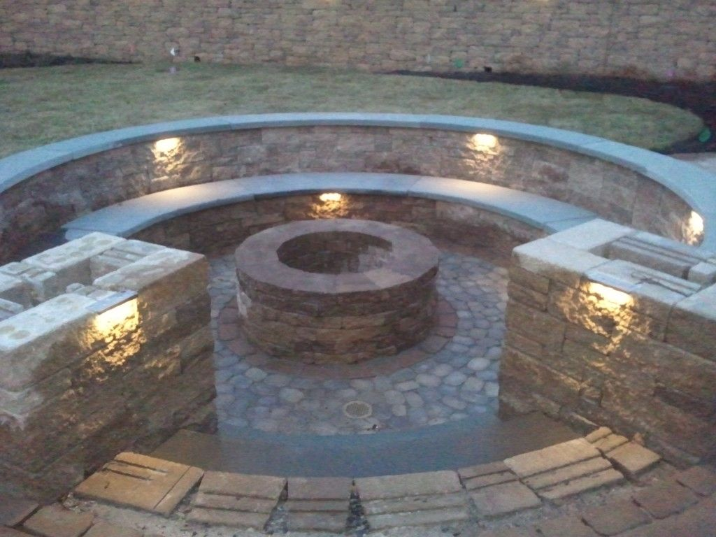 in ground fire pit with seating firepit with