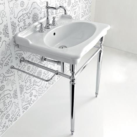 pedestal sink with metal legs | Hermitage Console 92 - Metal Legs. Bathroom  ...