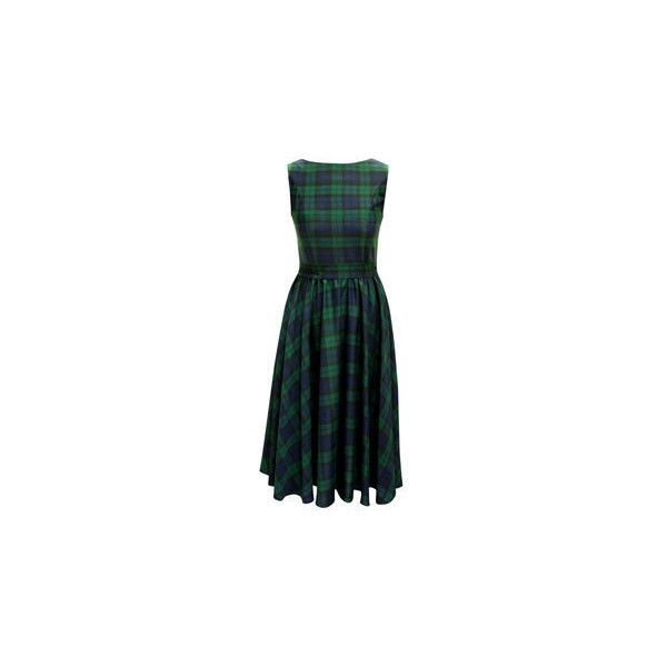 Christmas Black Watch Tartan Vintage Style Swing Dress by British... (4.475 RUB) ❤ liked on Polyvore featuring dresses, tartan swing dress, vintage swing dress, swing dress, christmas swing dress and trapeze dress