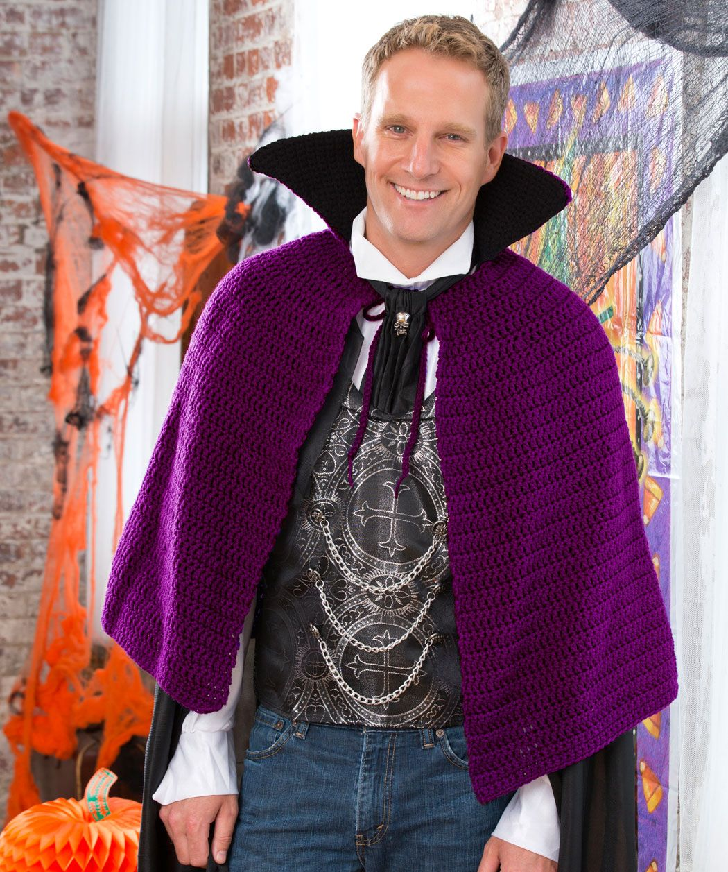 Vampir-Cape Gratis Häkelmuster | Crochet - Wearables | Pinterest ...